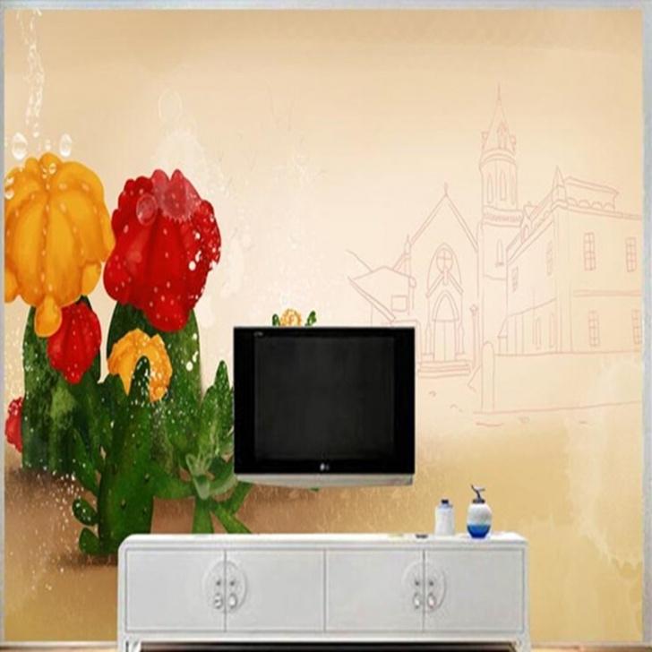Custom Mural 3D Ästhetische Wandmalereien Foto