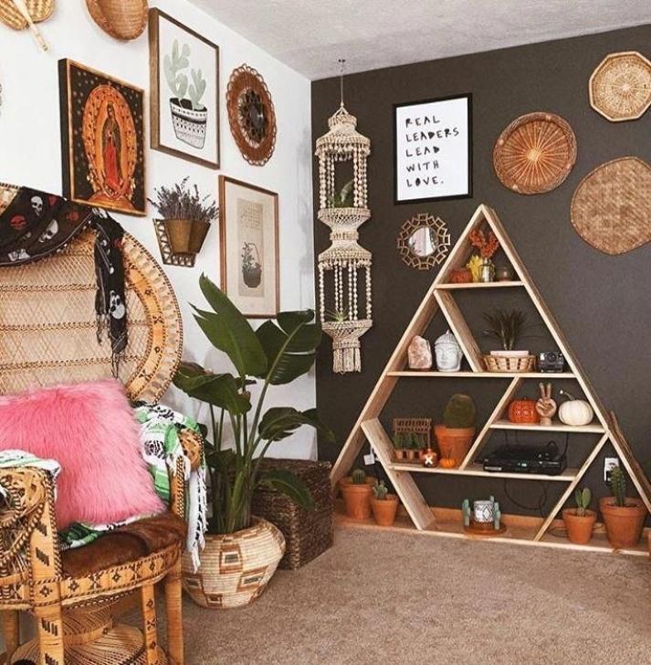 Der Stil Der Hausverschönerung Setzt Sich Aus Dunklen Faszinierender Stil In Der Wohnkultur Foto