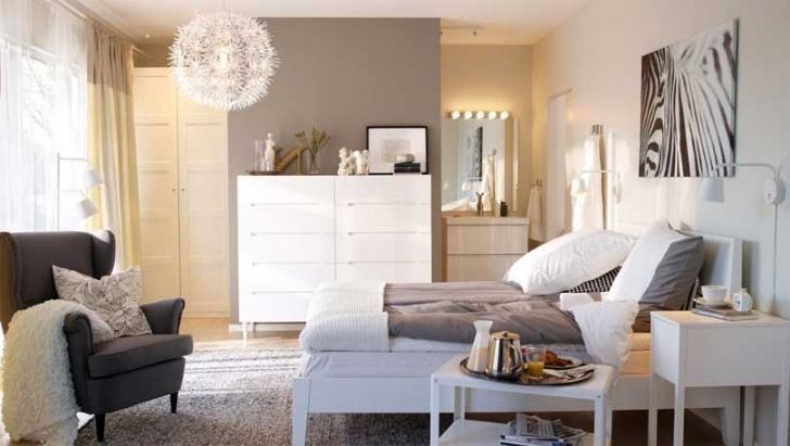 Ikea Schlafzimmermöbel Mit Schlafzimmer Wandfarbe Grau - Schlafzimmermöbel Foto
