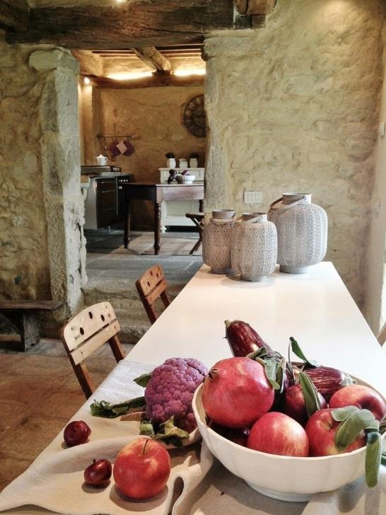 Kuche Dekorieren Sie Ihr Haus Im Toskanischen Stil Toskanische Wohnkultur Foto