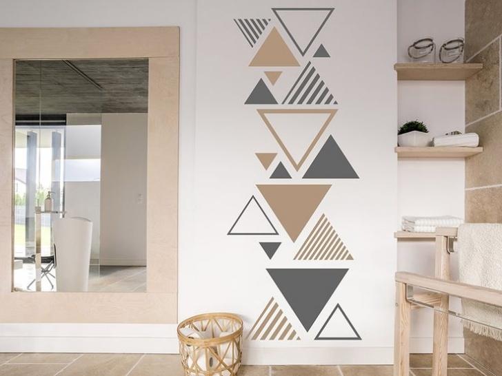 Moderne Dreiecke Wandtattoo Dekorative Wandmalerei Ideen Bild