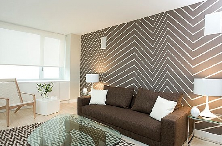 Painting Chevron Walls New Interior Design Trend Interior Wall Paint Bild