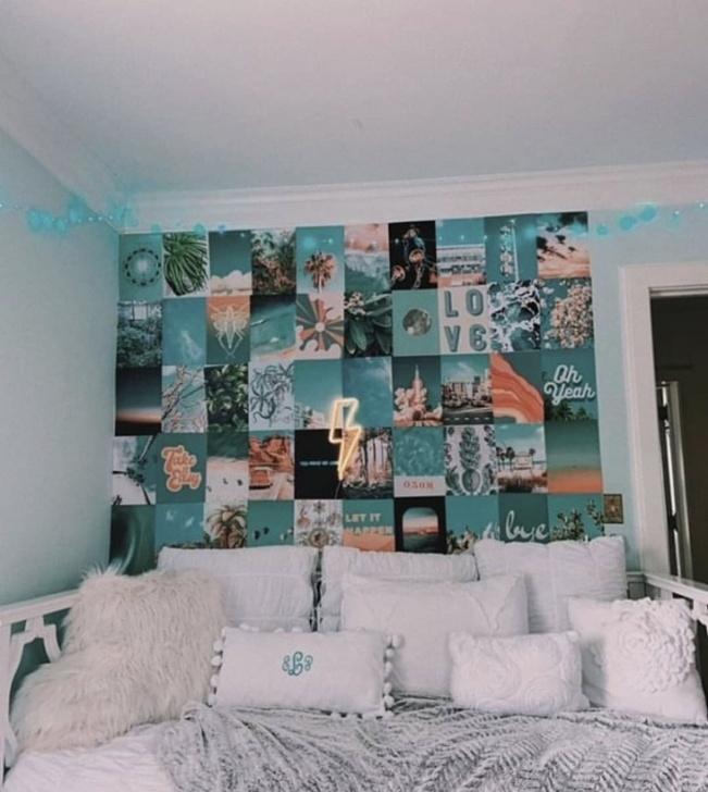 Schlafzimmer Ästhetische Wandmalereien Bild