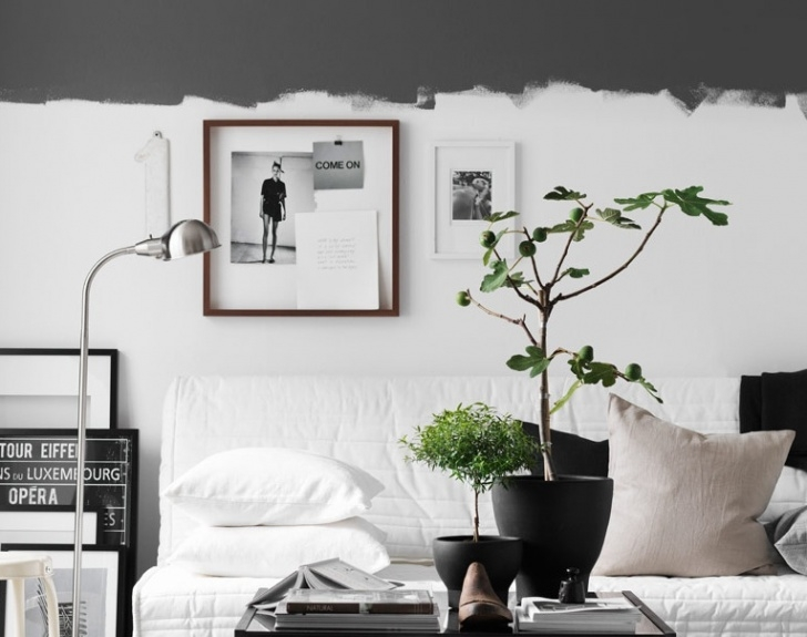 Wohnzimmer Ästhetische Wandmalereien Bild