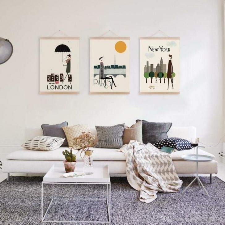 Wohnzimmer Wanddekoration Retro, Vintage - Dekoratives Wanddekor Bild